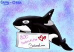 Gift - 800 subscribes by Camy-Orca