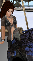 Random of Garrus and Sereia Relaxing On A Beach by MrQuinlansBloodDoll