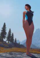 Competition Swimsuit 6A -CBBE Skyrim by chris1134567