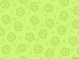 Cupcake wallpaper (Green) by sosogirl123