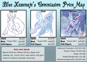 Bluebie's 2013 Commissions Price Map by BlueKazenate
