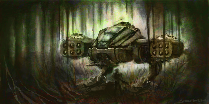 jungle mech by whatthebooty