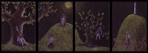 Nettle's Dreams: quadriptych by Crooty
