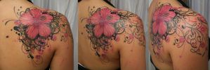 Blossom heart tribal climb BG by 2Face-Tattoo