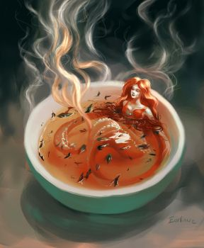 Tea Mermaid by Earlinwe