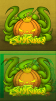 Pumpking(standard and gltich version) by Devilinchan94