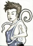 Sketch Card - Octopus Backpack by Indy-Lytle