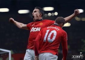 Van Persie and Rooney by blackdoggdesign