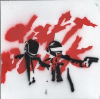 daftpunk spray by whiteflag33