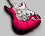 Pink Guitar by oister69