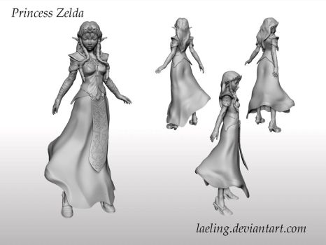 Princess Zelda Zbrush 3D model by laeling
