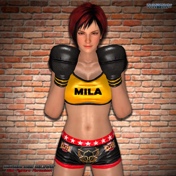MMA Fighters Photoshoot: Mila by ShadowNinjaMaster