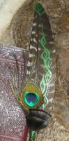 Viridian Soul - Painted featherquill I by Ganjamira