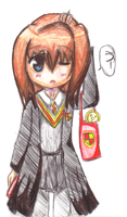 Maria in Harry Potter Robes by vannyjae