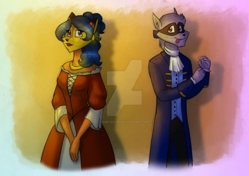 17th century Sly and Carmelita by JennissyCooper