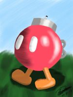 Bob-Omb Buddy going for a walk by OniAllienGantz6