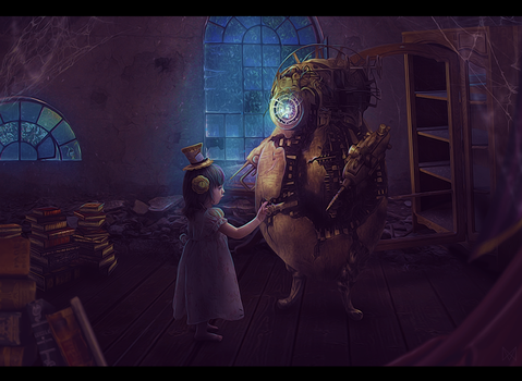 Little watchmaker - Steampunk friend [contest] by msriotte