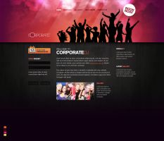 Corporate DJ Website by F4LLENNZ