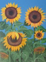 Sunflowers F... by gustavoleal by TraditionalArt