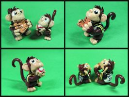 Baseball Monkeys by DragonsAndBeasties