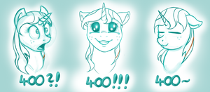 400 followers special - 3 expressions by SweetheartAnnie