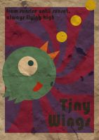 Tiny Wings Retro Poster by Dorolino
