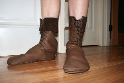 leather boots by castlegardener