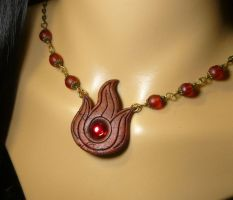 Insignia of Fire - handcrafted necklace by Ganjamira