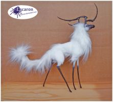 Snow - Mixed Media Sculpt (SOLD) by Escaron