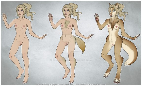 Werewolf progression [c] by sphynxpunk