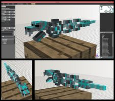 Minecraft Cuotl Ekans Mob model by FuzzyAcornIndustries