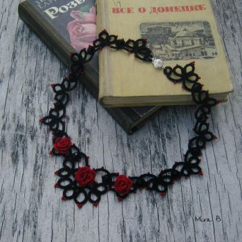 Tatted Necklace by releaserevolverenew
