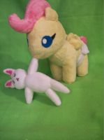 Baby fluttershy plush by PollyRockets