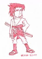 Red Sasuke Sketch by iEzQaNDaR