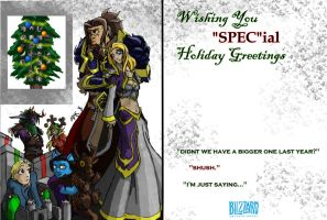 Warcraft Holiday Card by 6-fingers