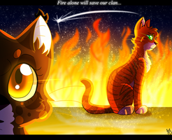 Fire Alone will Save our Clan by TesArtist