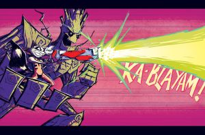 Rocket and Groot by dcjosh