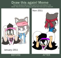 Meme Before and After by GabyandJova