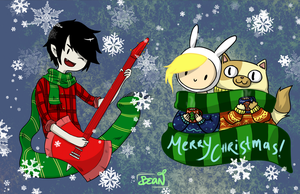 Adventure Time Christmas by bluebirdjoy