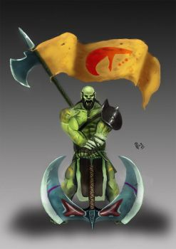 Orc Leader Concept Art by IcedEdge