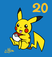 Happy Pokemon 20th Anniversary! by HirokoTheHedgehog