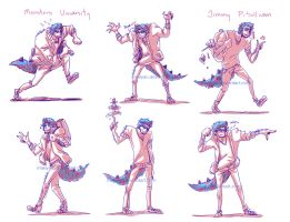 MU : sulley pose ref sheet :: by makiyan