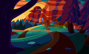 Adventure Time themed Environment by Chirko
