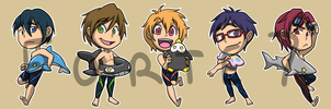 Stickers: Free! Iwatobi Swim Club by forte-girl7
