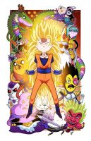 Dragonball Time Z - Collab w/ Mike Vasquez by JoeHoganArt
