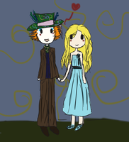 Hatter and Alice by TeaCrazy1837