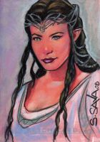 Arwen Sketch Card by ssava