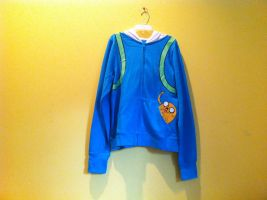 Adventure Time Finn Hoodie w/ Jake in the Pocket! by TheYummyCupcake
