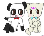 Gift - Of Pandas And Cats by SilverCelestt777