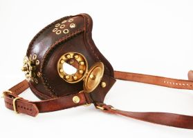 Steampunk leather mask 5 by AmbassadorMann